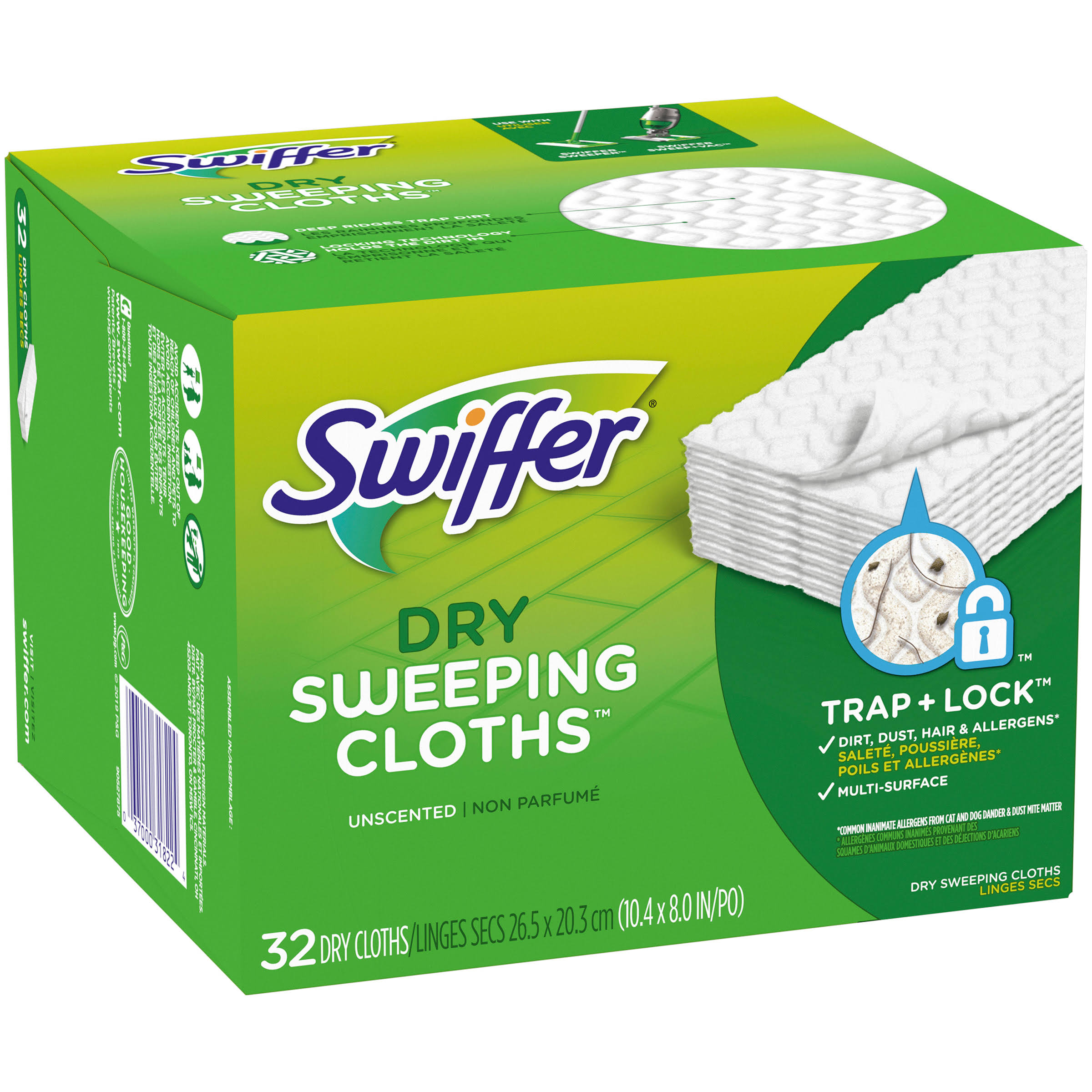 Swiffer Sweeper Dry Sweeping Refills - 32 Dry-Sweeping Cloths