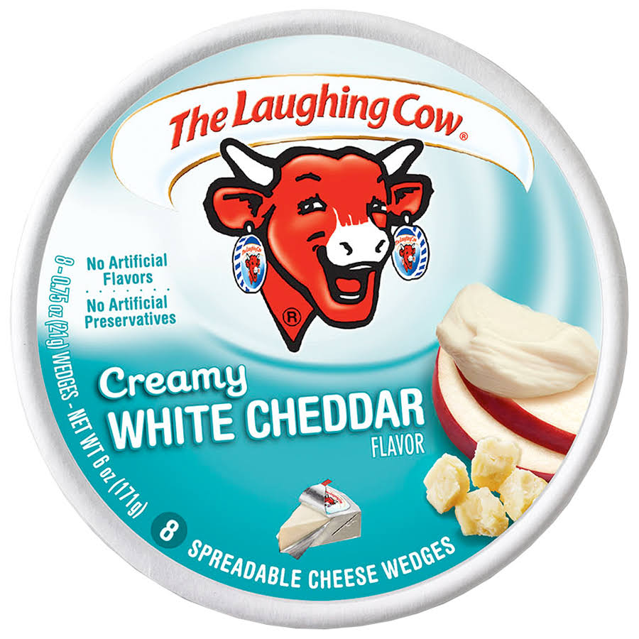 The Laughing Cow Creamy White Cheddar - 6 Oz