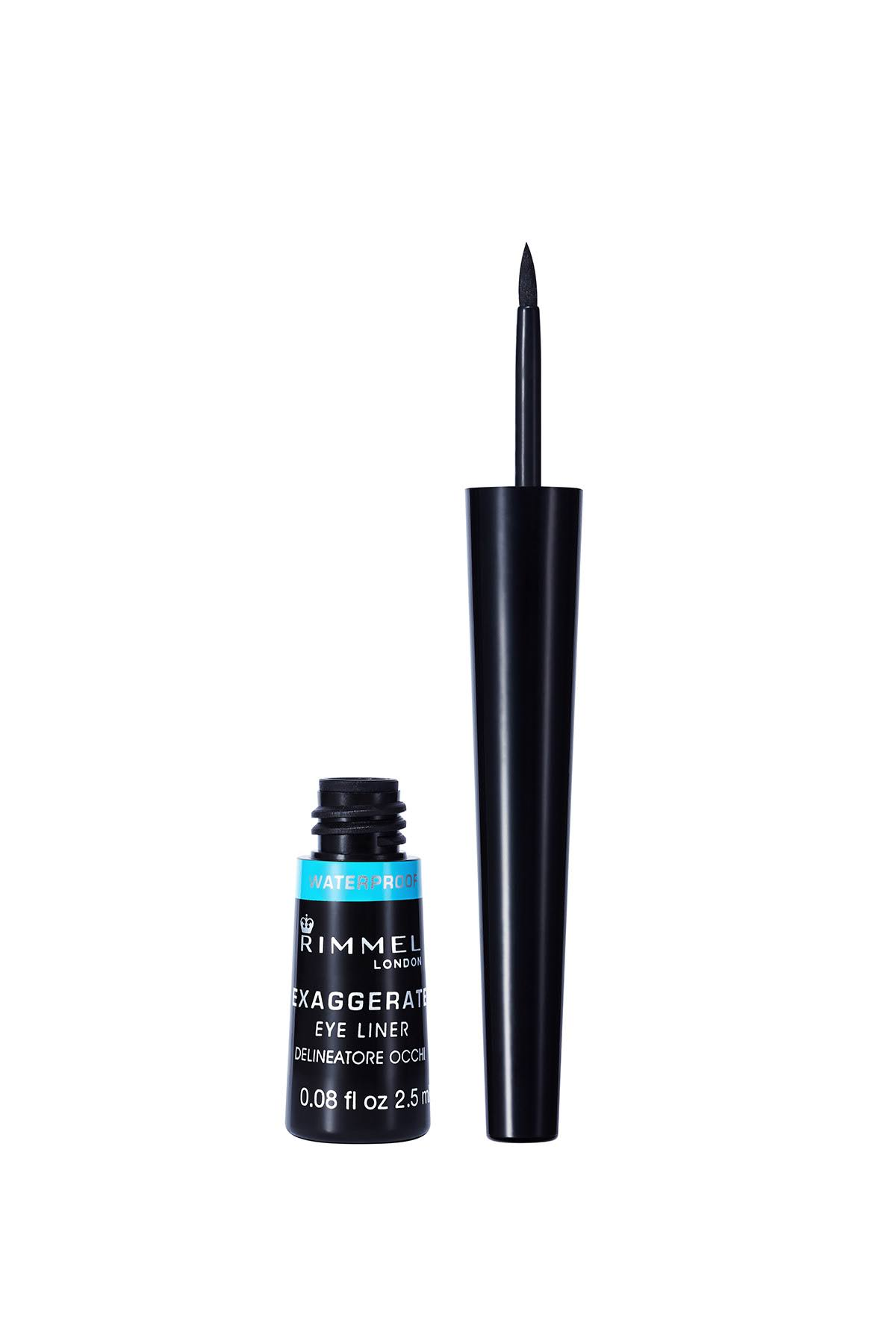 Rimmel London Exaggerate Liquid Eye Liner - 003 Waterproof Black, 2.5ml