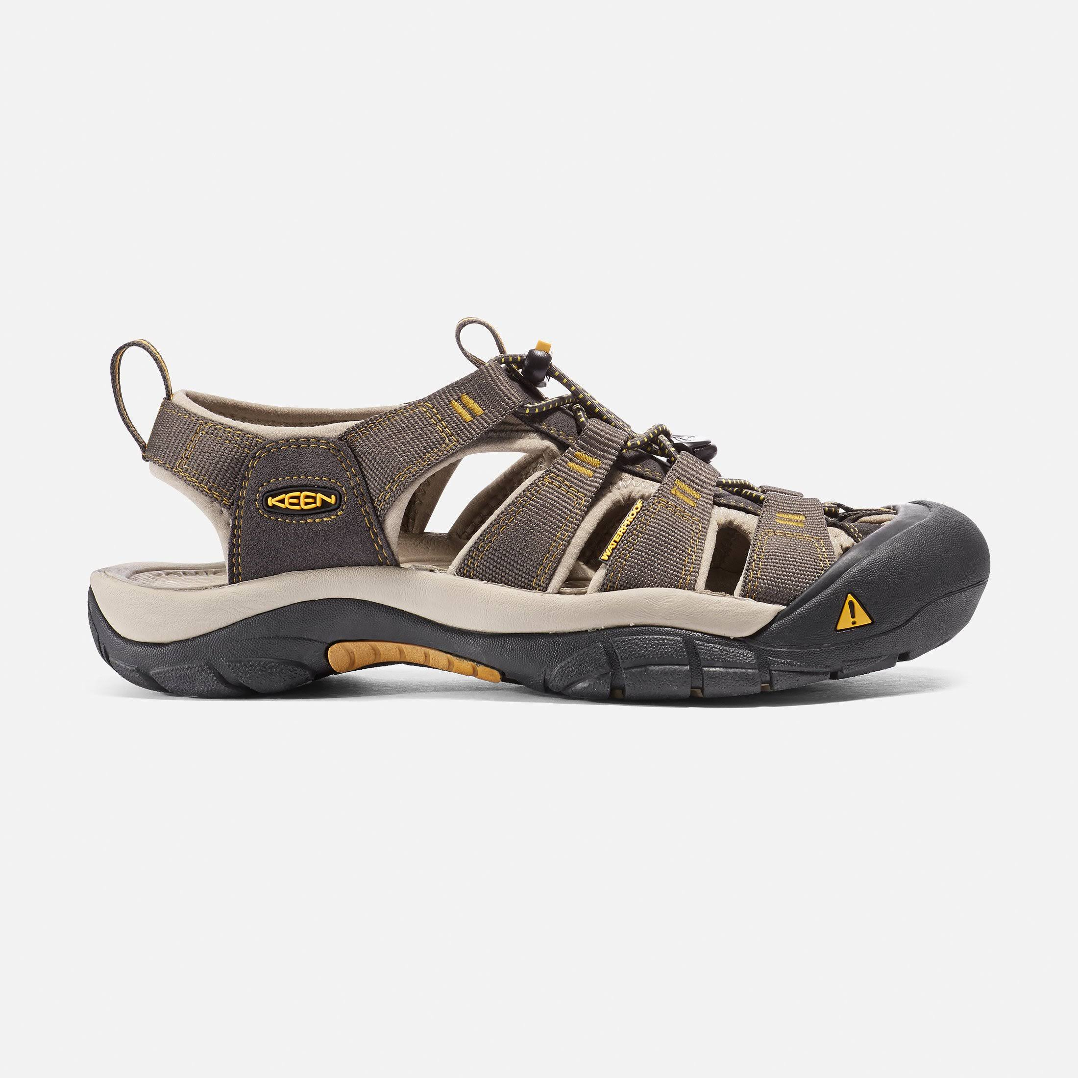 Keen Men's Newport H2 Sandals - Raven/Aluminum, 11.5US