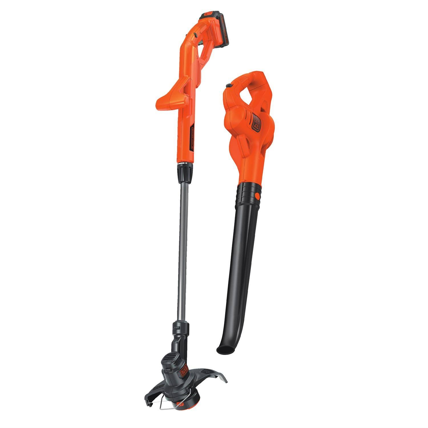 Black & Decker Trimmer And Sweeper Combo - 20V, Orange