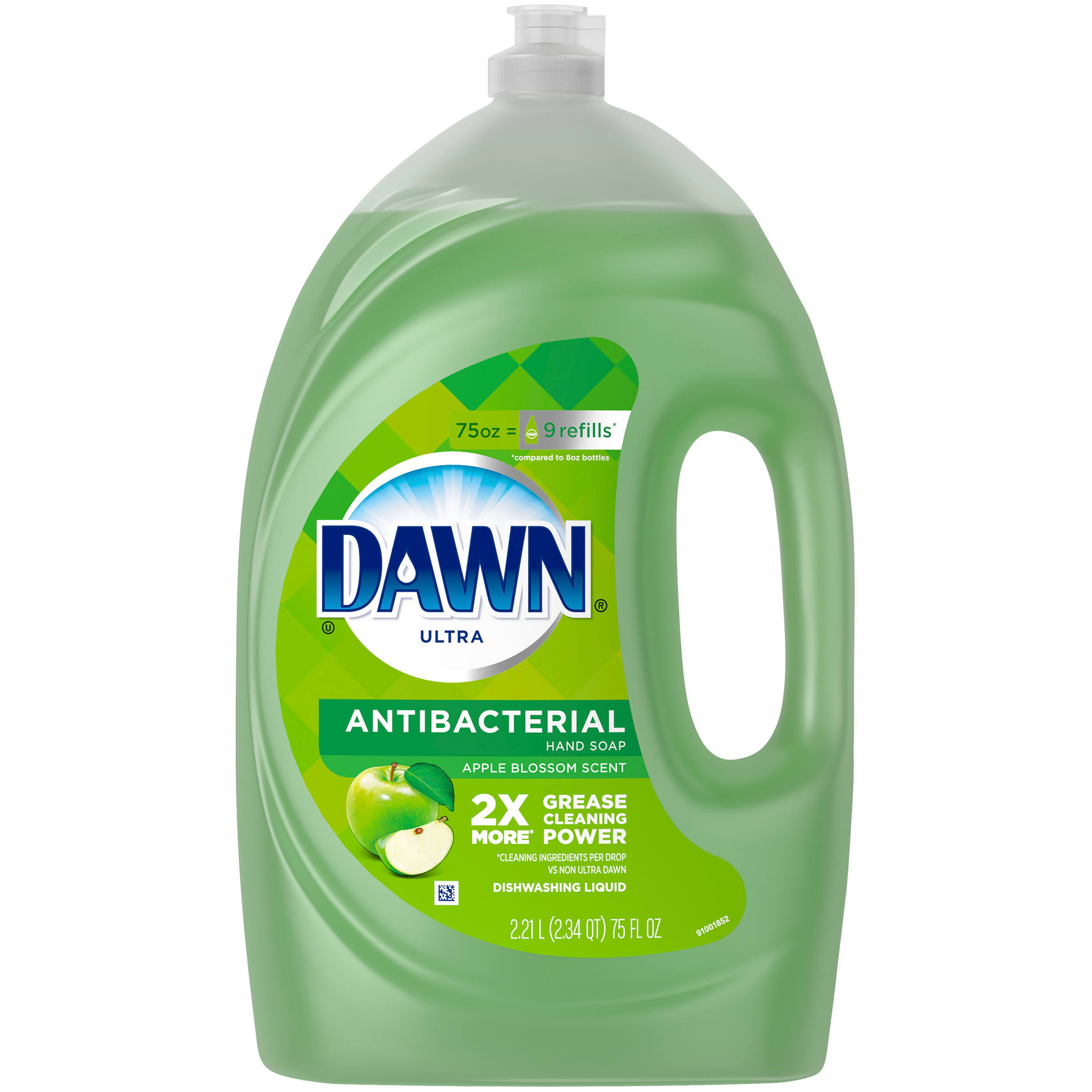 Dawn Ultra Antibacterial Hand Soap Apple Blossom Scent Dishwashing Liquid - 75oz