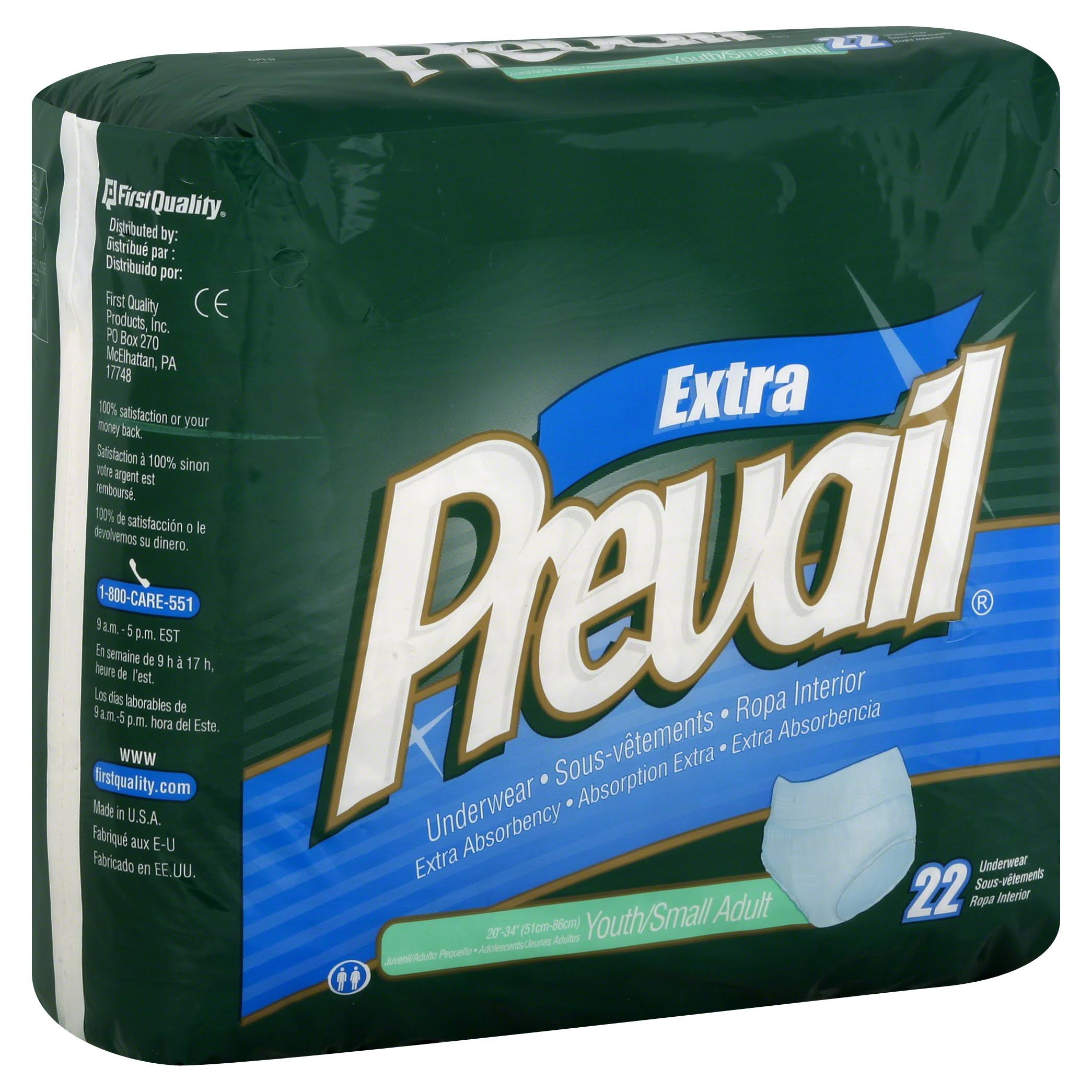 Prevail Extra Absorbency Underwear - Youth/Small Adult, 22 ct
