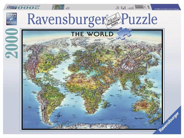 Ravensburger 2000 Piece Jigsaw Puzzle World Map