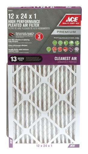 Ace 12 in. W x 24 in. L x 1 in. D Cotton Air Filter