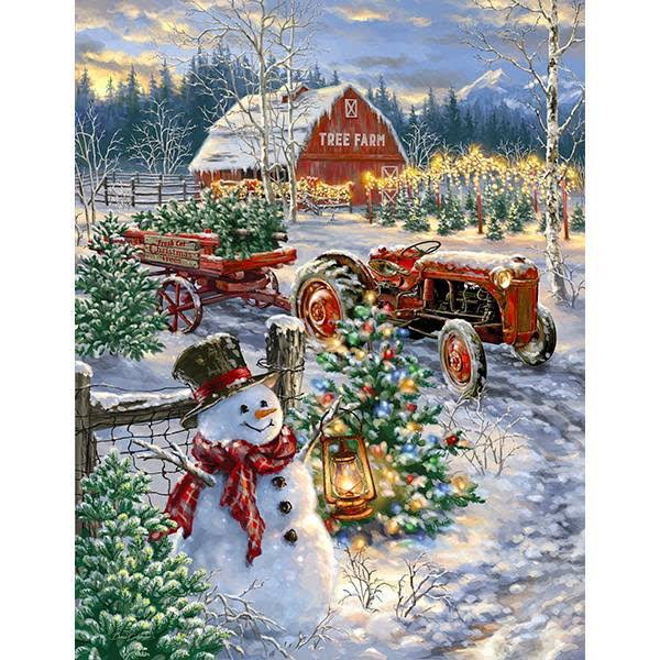 Springbok Christmas Tree Farm - 500 Piece Jigsaw Puzzle