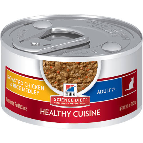 Hill's Science Diet Healthy Cuisine Roasted Chicken & Rice Medley Cat Food Adult 7+