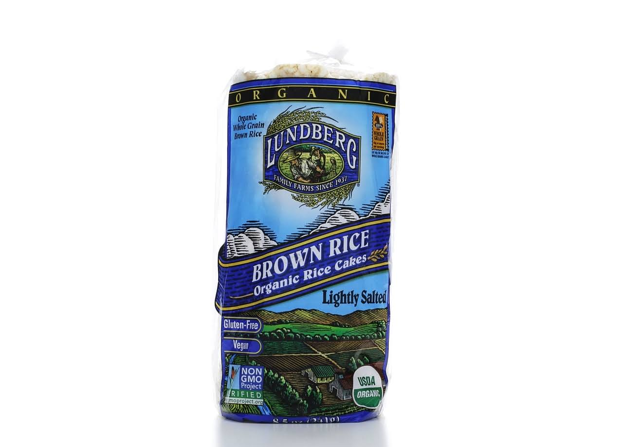 Lundberg Rice Cakes, Organic, Brown Rice, Lightly Salted - 8.5 oz