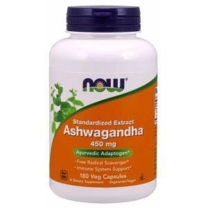 Now Foods - Ashwagandha, 450 mg, 180 Veg Capsules
