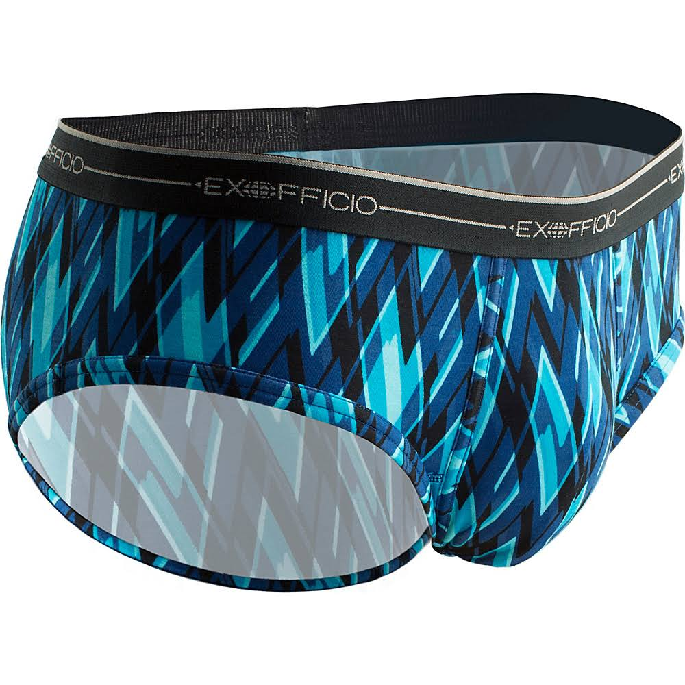EX Officio 2452891 Sol Cool Print High Tech Performance Brief, Men's, Size: Medium, Atlantic/Modern Argyle