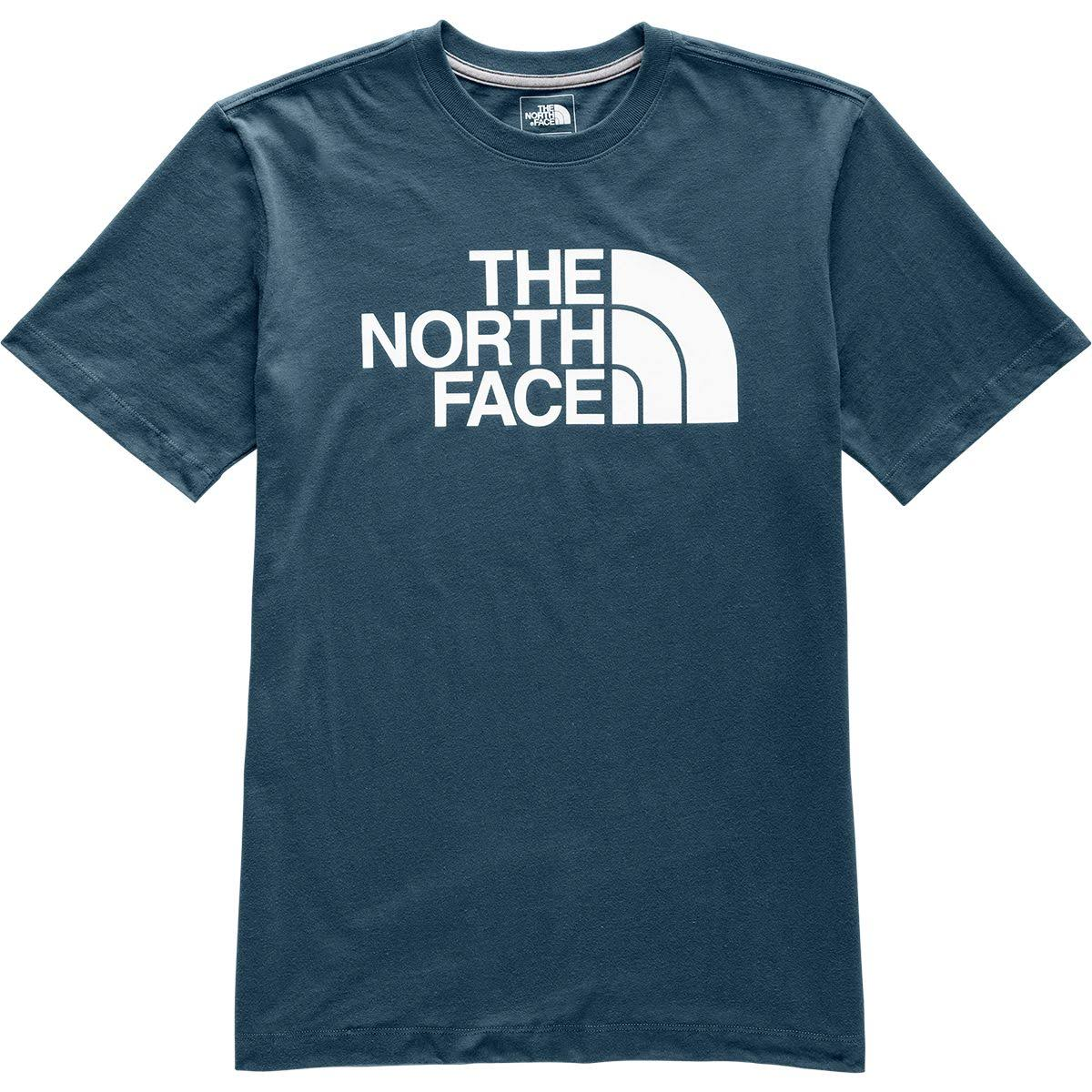 The North Face Half Dome T-Shirt - Men's Blue Wing Teal/TNF White, L