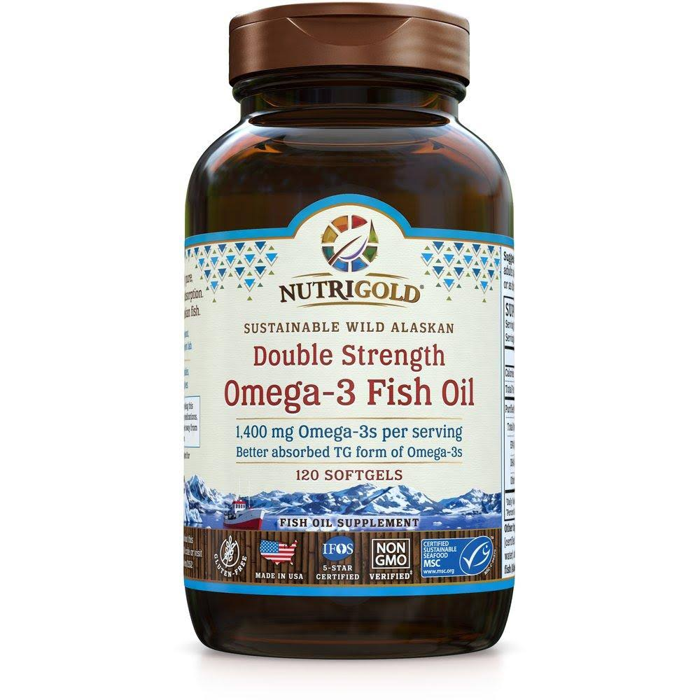 NutriGold Double Strenght Omega-3 Fish Oil - 120ct