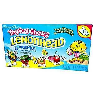 Chewy Lemonhead Tropical Assorted Fruit Flavored Candies - 23g