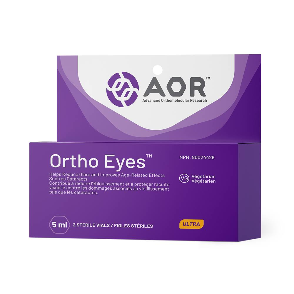 Advanced Orthomolecular Research AOR Soothing Lubricant Eye Drops - 2 Vials, 5ml