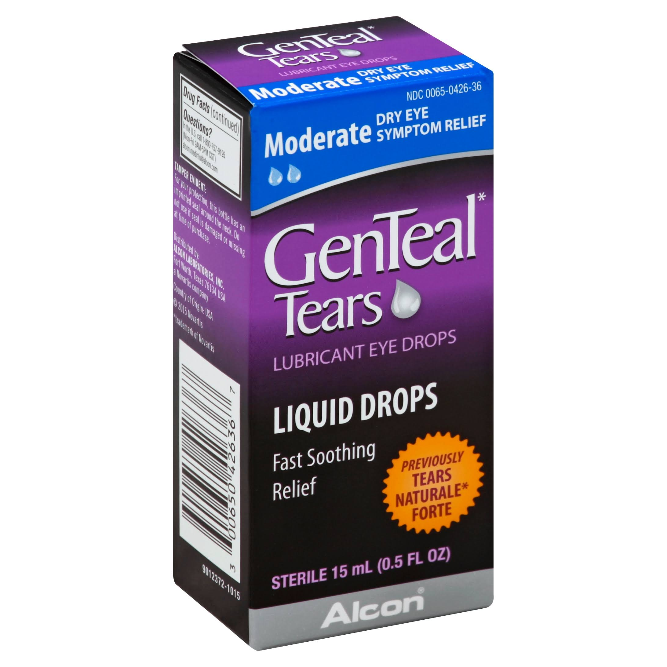 GenTeal Tears Liquid Eye Drops - 15ml