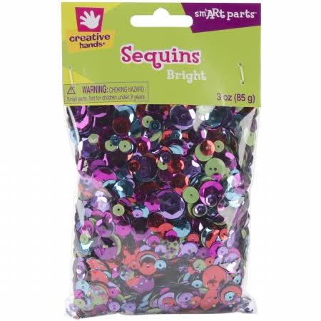 Fibre Craft Creative Hands Sequins - Bright, 3oz