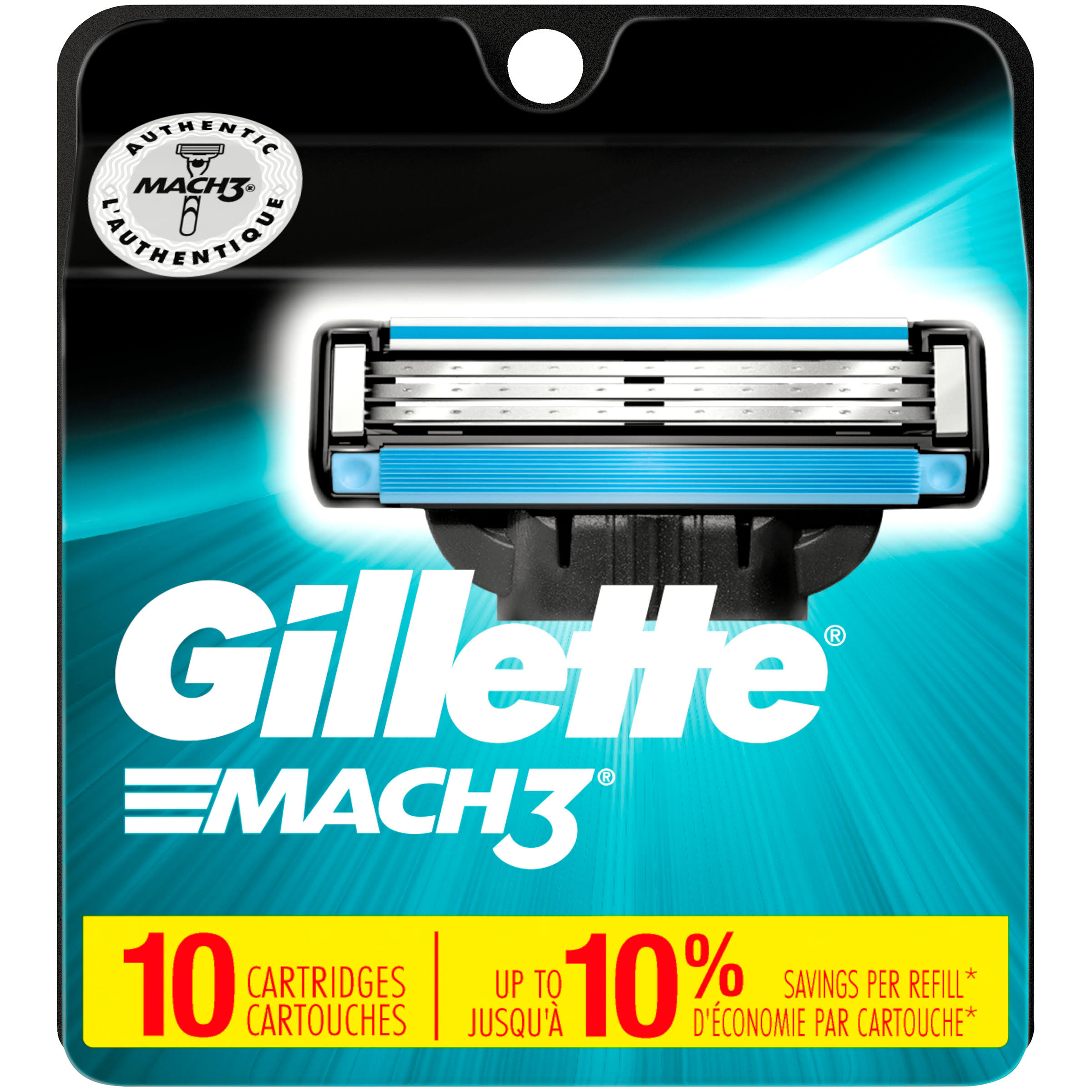 Gillette Mach3 Cartridges - 10 Pack