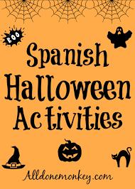 Childrens Halloween Books Pdf spanish halloween activities all done monkey