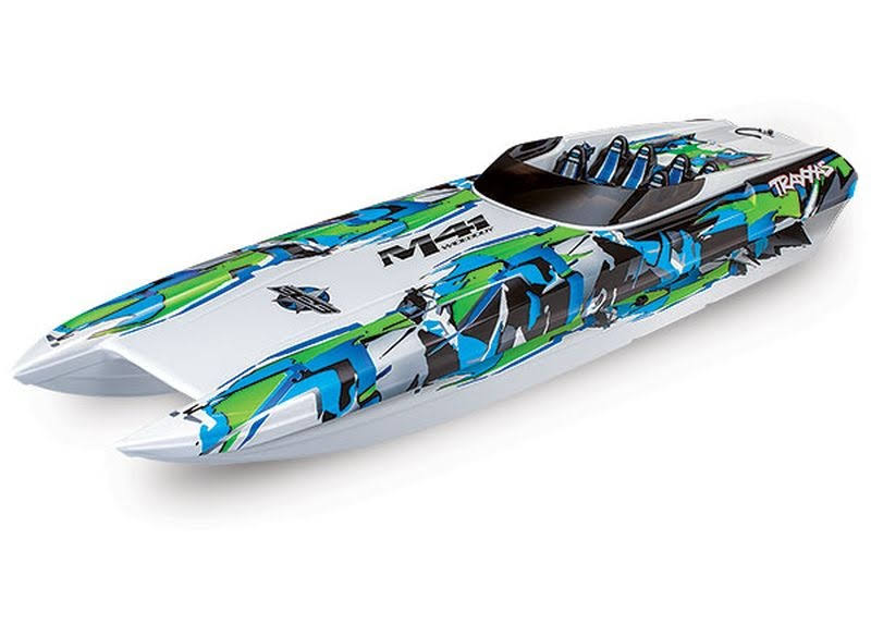 Traxxas 57046-4 - DCB M41 Widebody Catamaran 40 inch Race Boat, RTR, Green