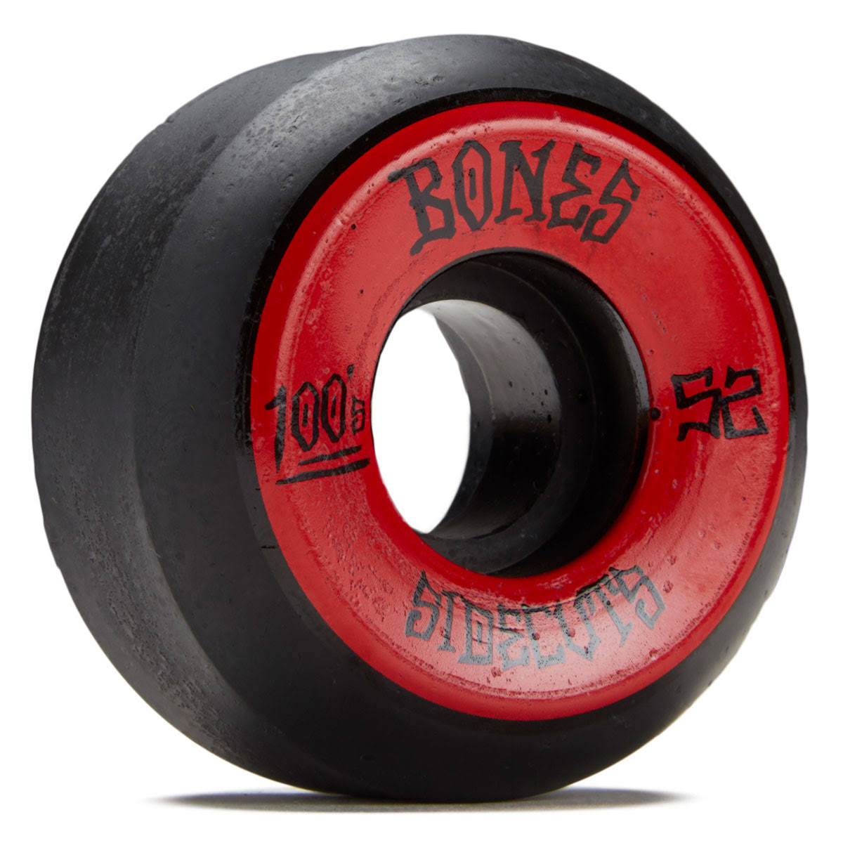 Bones OG 100s V5 Sidecut Skateboard Wheels - Black and Red, 52mm, 4pk