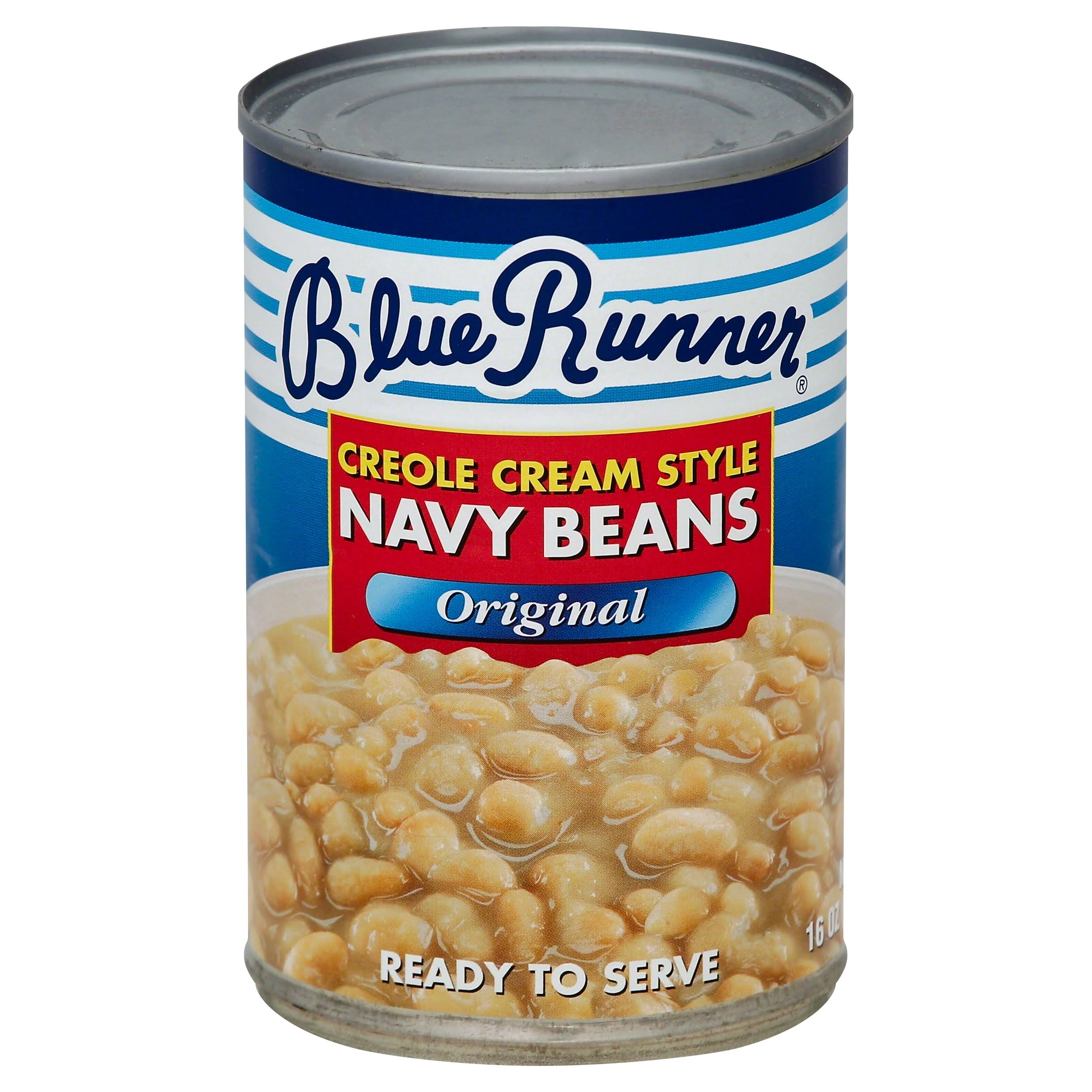 Blue Runner Creole Cream Style Navy Beans - 16oz