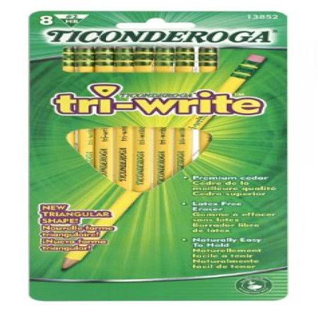 Dixon Ticonderoga Tri-Write Triangular Pencils - HB, x8