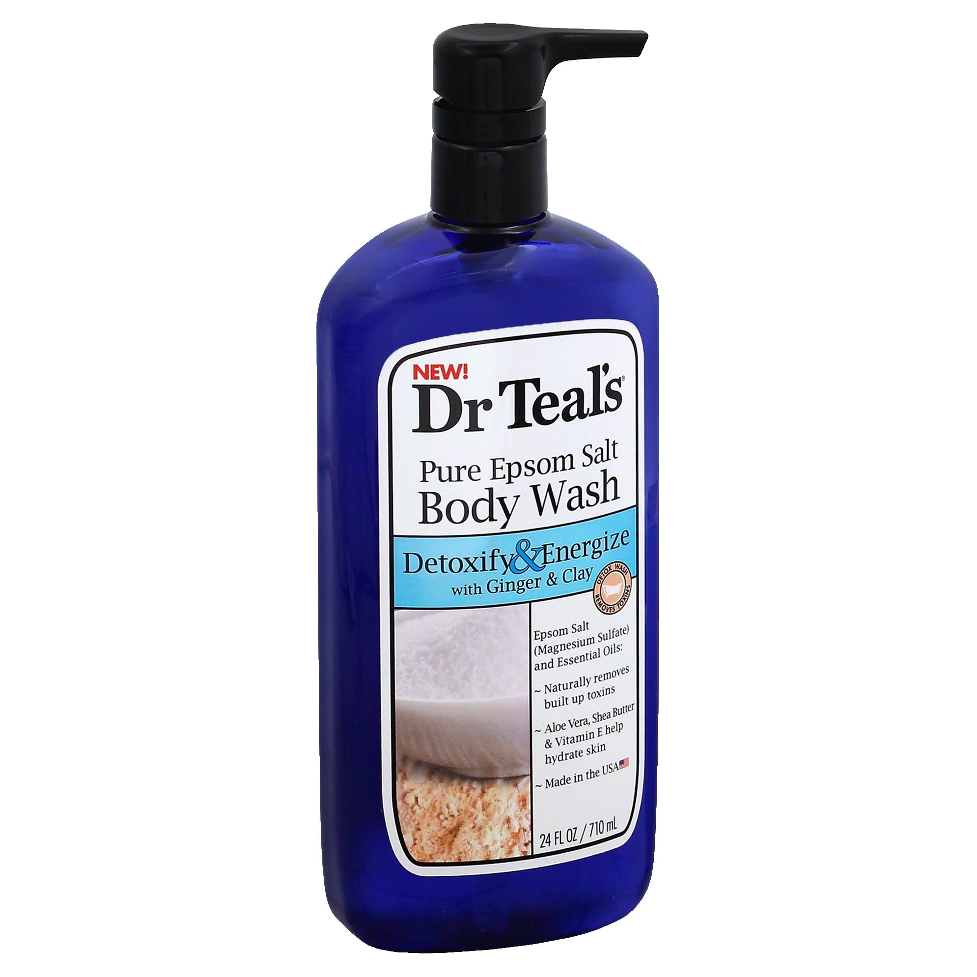 Dr Teal's Detoxify & Energize Body Wash - with Ginger & Clay, 24oz