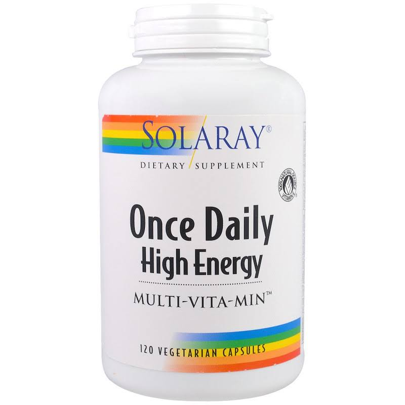 Solaray Once Daily High Energy Multi-Vita-Min, Vegetarian Capsules - 120 count