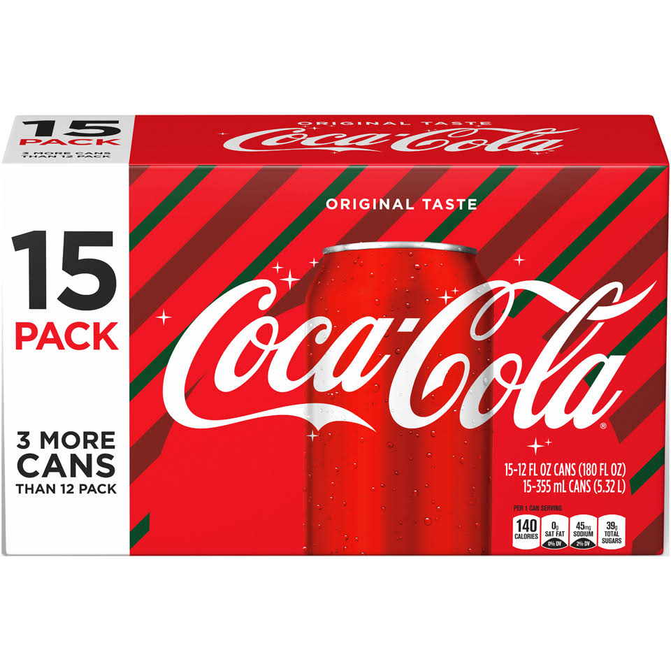 Coca-Cola 15-12 Fl. Oz. Cans