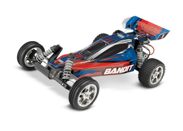 Traxxas Bandit Off-Road Buggy With TQ 2.4GHz Radio System - Blue, 1/10 Scale