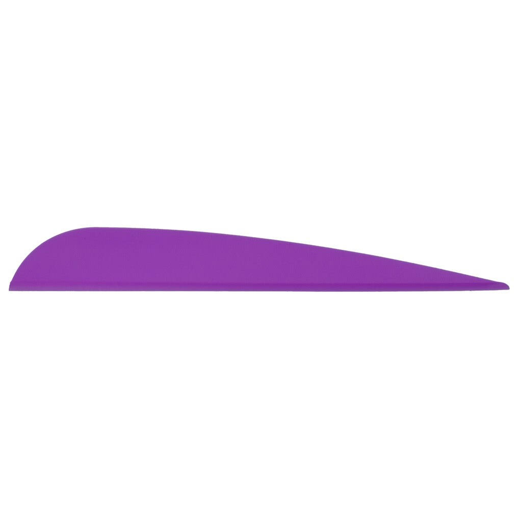 Aae Elite PlastiFletch Vanes Purple 3.875 in. 100 Pk.
