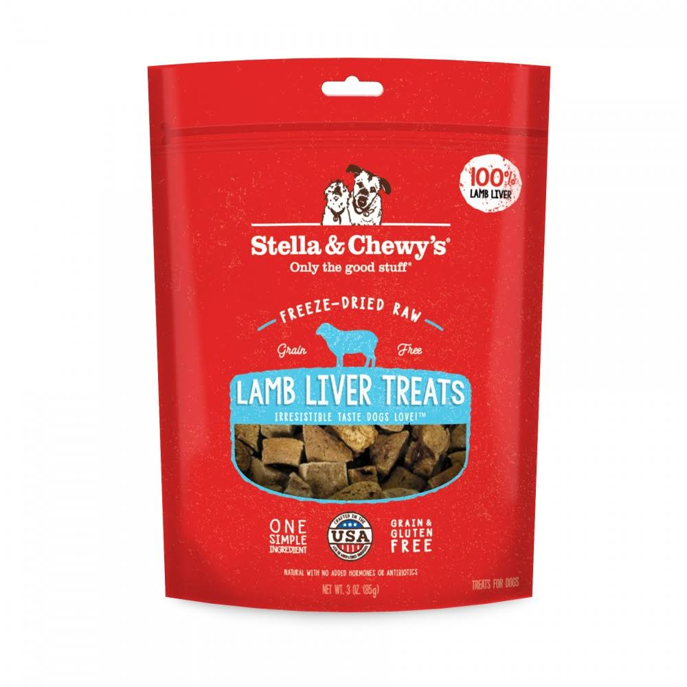 Stella & Chewy's Freeze Dried Raw Lamb Liver Dog Treats, 3 oz