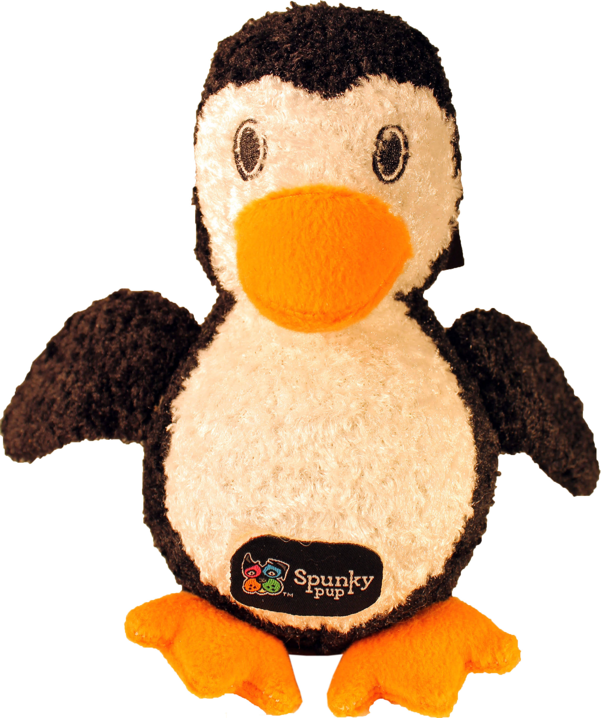 Spunky Pup Furry Friends Squeaker Ball Dog Toy - Penguin