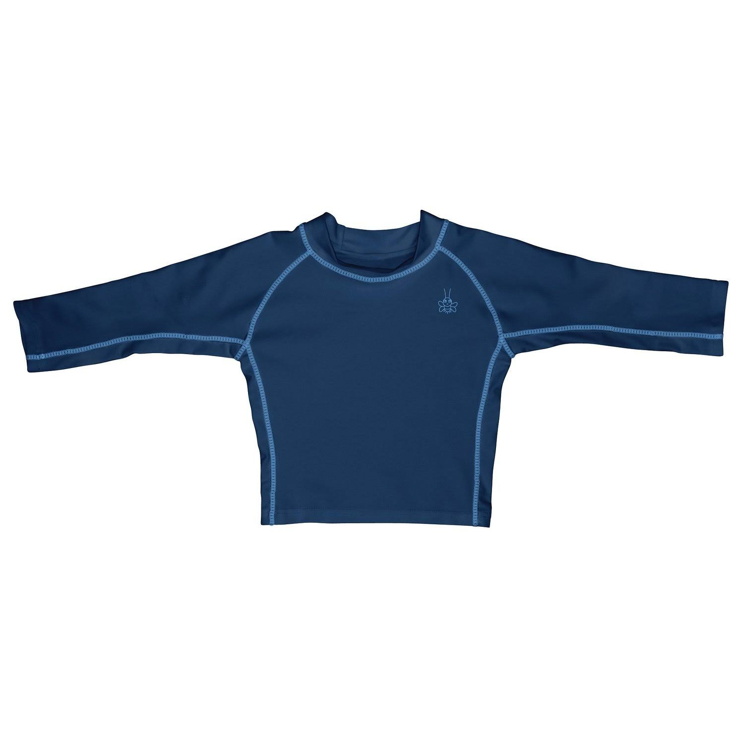 I Play. Baby Long Sleeve Rashguard Shirt, Navy, 12 Months