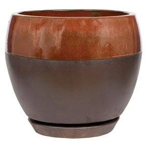 "Southern Patio 8"" Copper Kendall Egg Planter"