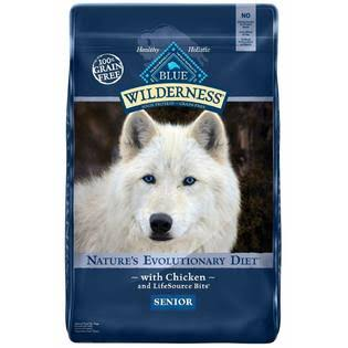 Blue Buffalo Wilderness High Protein Dry Senior Dog Food - 11lbs