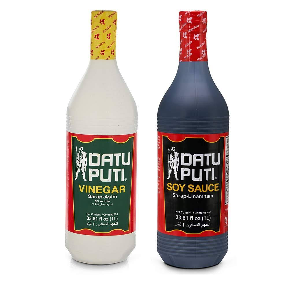 Datu Puti Vinegar & Soy Sauce Pack - 2 count, 1 L bottles