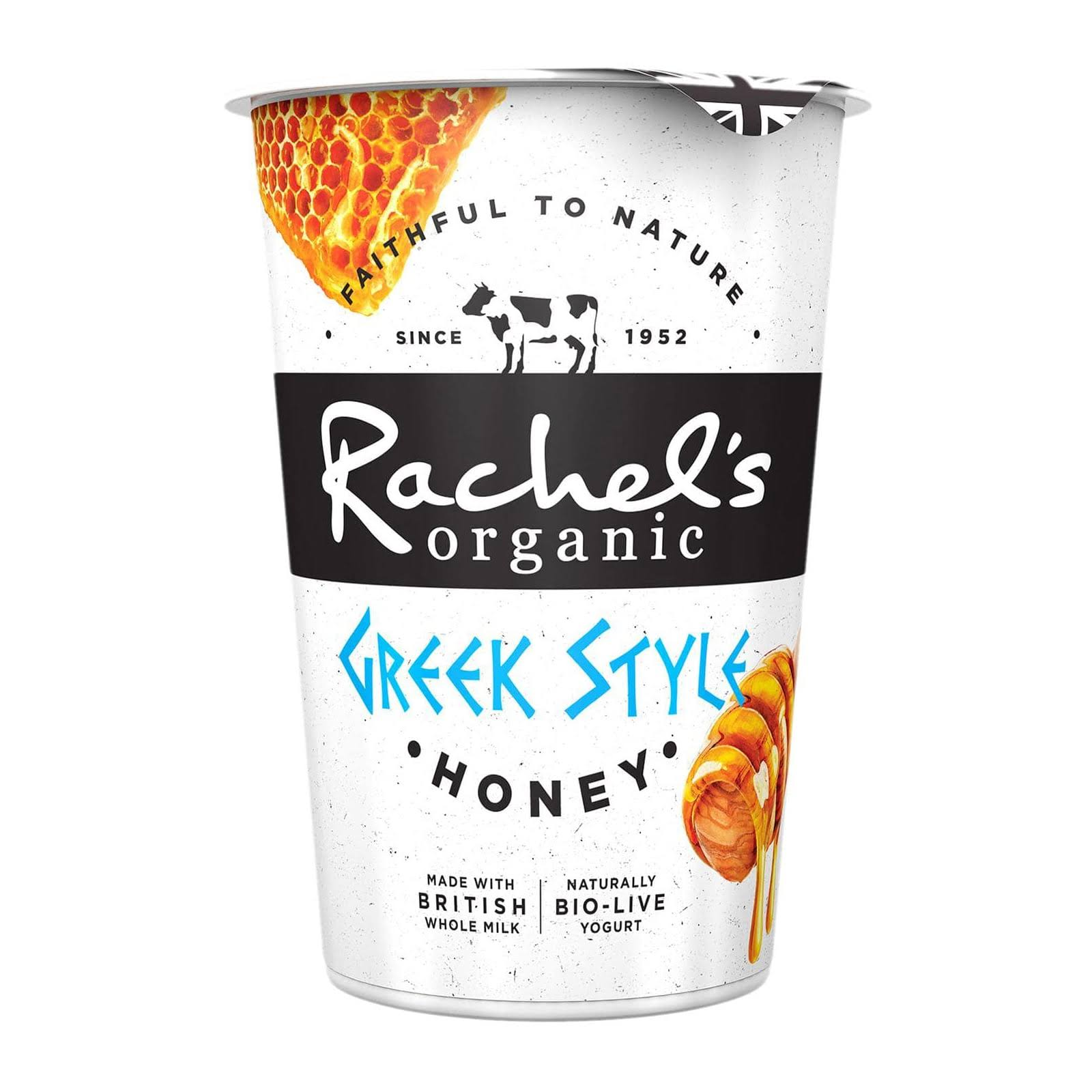 Rachel's Organic Greek Style Naturally Bio Live Yogurt - Honey, 450g