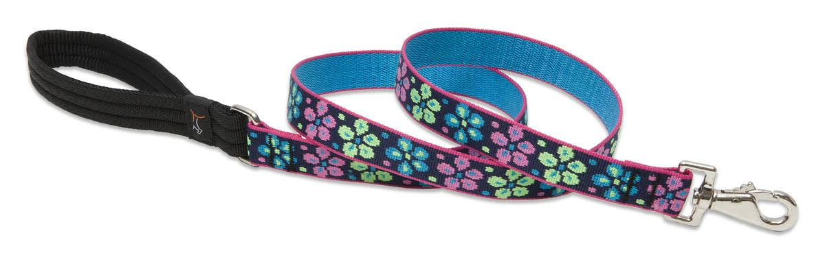 LupinePet Originals 1 Flower Power 6-Foot Padded Handle Leash for Med