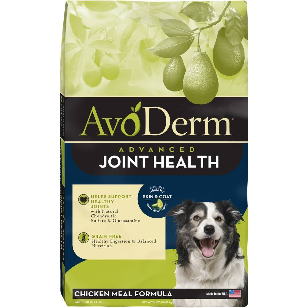 AvoDerm Joint Health Grain Free Chicken Meal Dry Dog Food - 24lb
