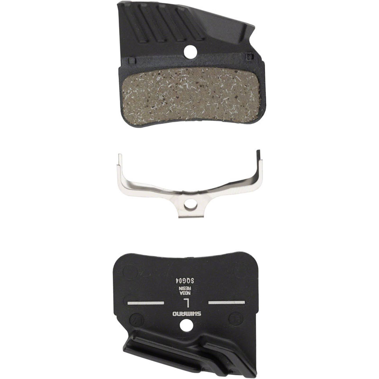 Shimano N03A Finned Resin Disc Brake Pad - with Spring