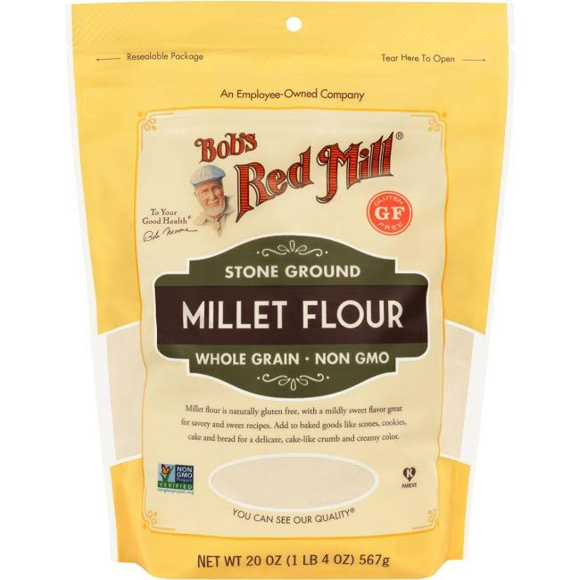 Bobs Red Mill Millet Flour, Stone Ground - 20 oz