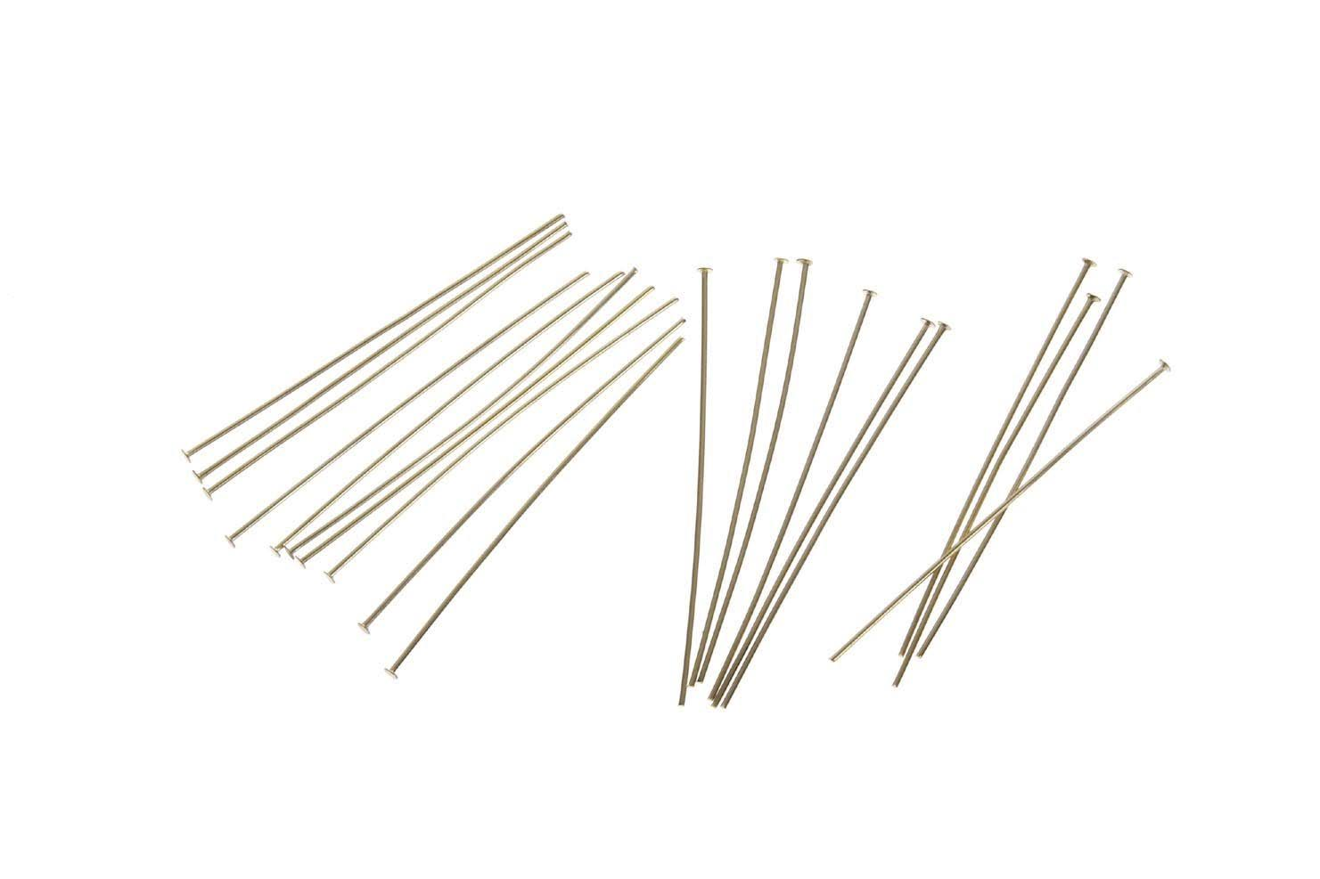 "Darice Jewelry Designer Head Pins - Gold Plated, 2"", 60pc"