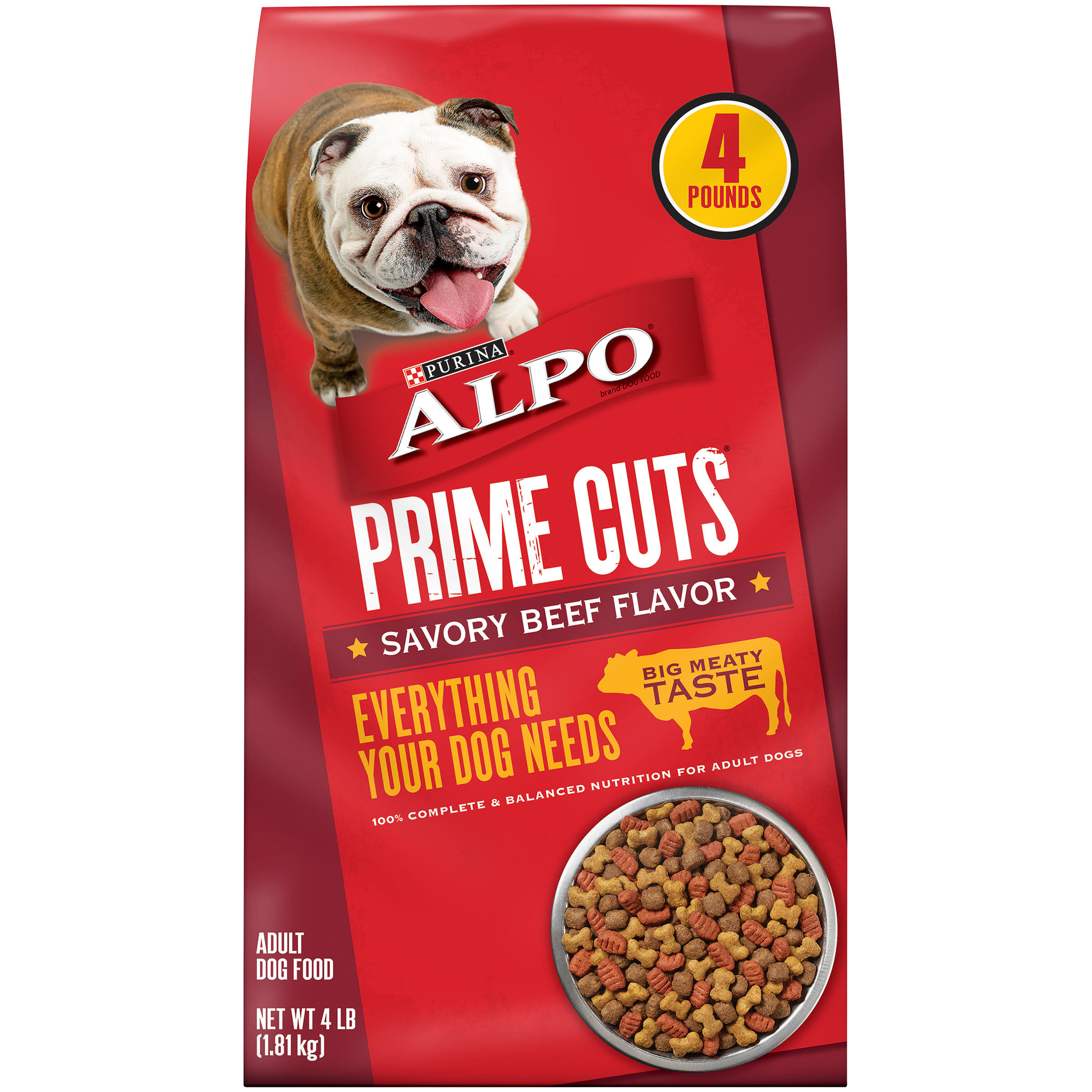 Purina Alpo Prime Cuts Dog Food - 4lbs, Savory Beef Flavor