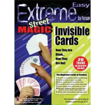 Forum Novelties Extreme Street Magic Invisible Cards Magic Deck