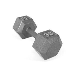 Cap Barbell Cast Iron Hex Dumbbell - 30lbs
