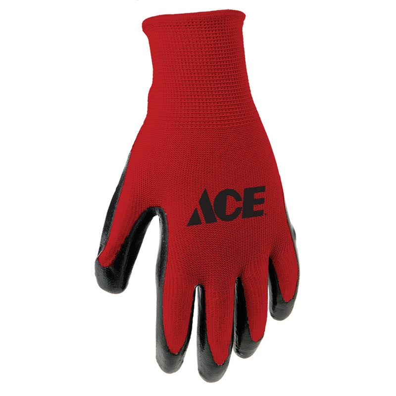 Ace Gloves Nitrile L 3pk, Red 248205