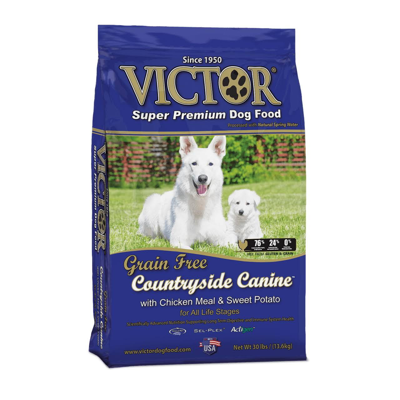 Victor Grain-Free Chicken Meal and Sweet Potato Dog Food - 30lb