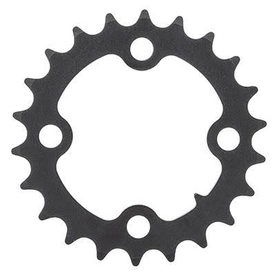 Sunrace MX0 Alloy Standard Chainrings - Black/Silver, 64mm, 4 Bolt, 22T, 10 Speed