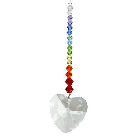 Woodstock Pink Heart Crystal Daydreams - Rainbow Maker